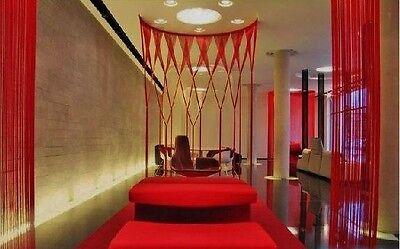 Red Fringe String Tassel Panel Curtain Room Divider Door Hanging 1x2m Bright Fun