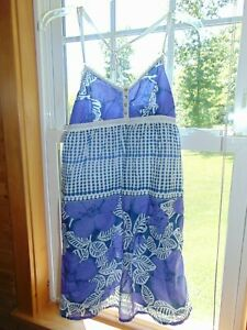 Aeropostale-summer-dress-floral-layered-medium-purple-cute
