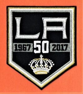 new arrival 80587 37007 Details about LOS ANGELES KINGS 2016/17 50th ANNIVERSARY EMBROIDERED NHL  UNIFORM PATCH