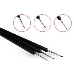 3-Stk-Design-Malerei-Stift-Feine-Nail-art-Pinsel-Set-Manikuere-Werkzeuge
