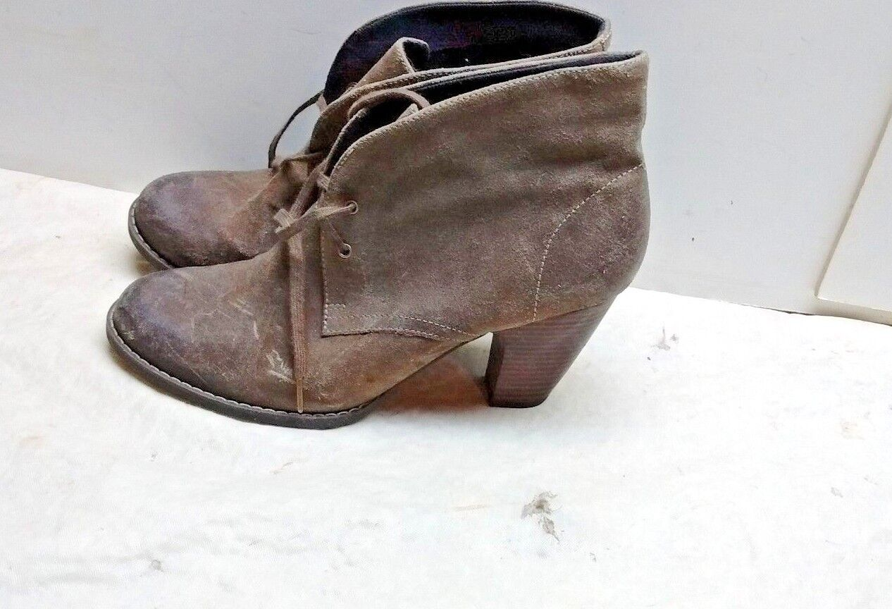 Clarks Indigo Women's Leather Brown Booties Ankle Boot Casual Dress shoes 10M