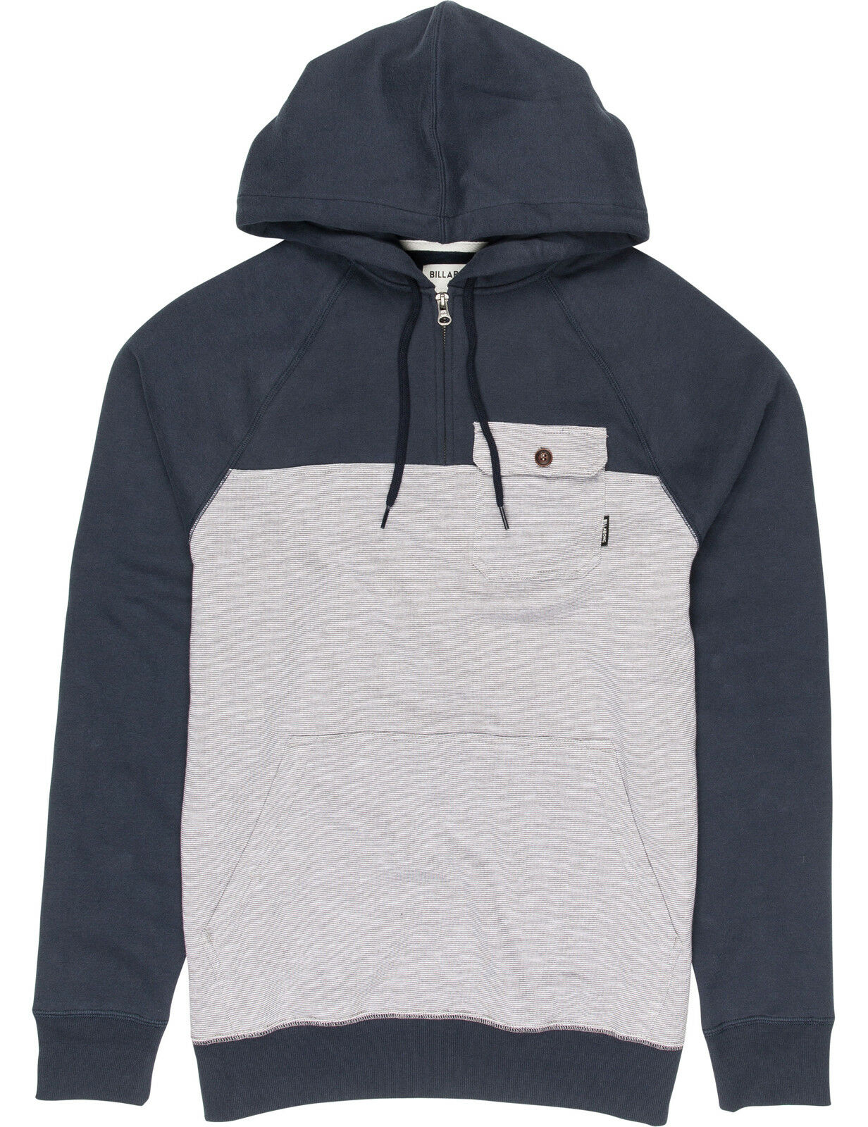 Billabong Balance Half Zip Pullover Hoody in Navy