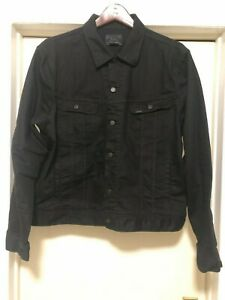 XXL-POLO-RALPH-LAUREN-BLACK-JEAN-CHEST-POCKETS-WAIST-ANGLED-POCKETS-DENIM-JACKET