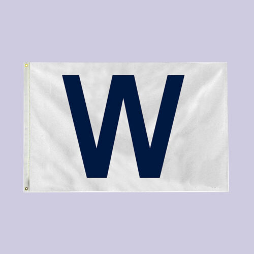 1PC 90x150cm W Flag Win Flag Banners for Chicago Cubs Fans Indoor Outdoor Decor