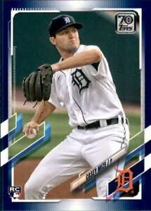 2021 Topps 70 Years Royal Blue #321 CASEY MIZE RC Rookie Detroit Tigers