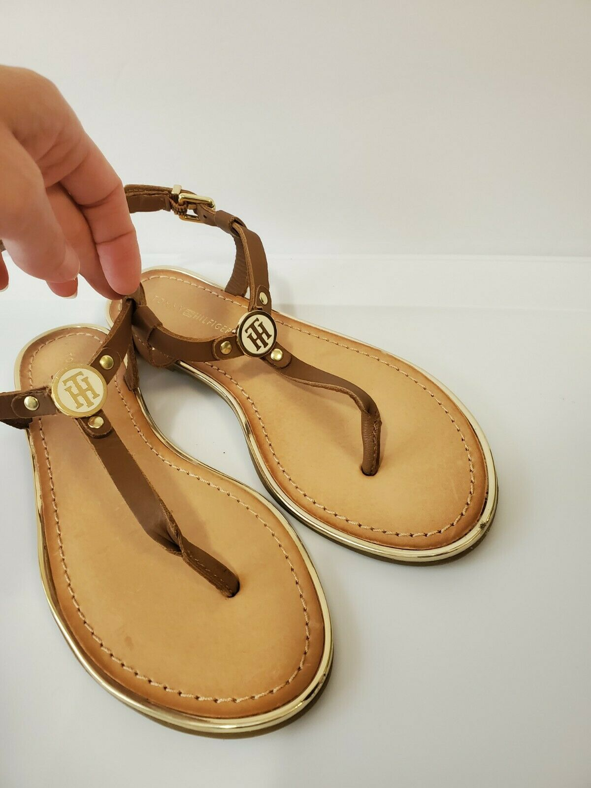Tommy hilfiger women Brown Leather Sandals  - image 1