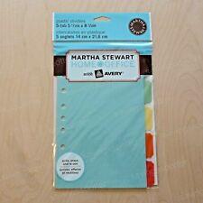Martha Stewart Small Format Plastic Dividers Assorted Classic 5 12 X 8 12