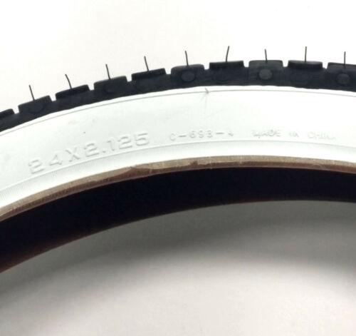 CST Carlisle Wire Bead Bike Tire White Wall 24 x 2.125