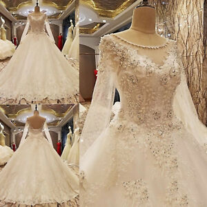 Image Is Loading 2017 Luxury Princess Shiny Beads Sequins Wedding Dress