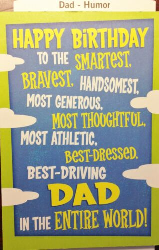 82  DAD BIRTHDAY CARD FUNNY for FATHER DADDY  HUMOR HALLMARK Choice of 14