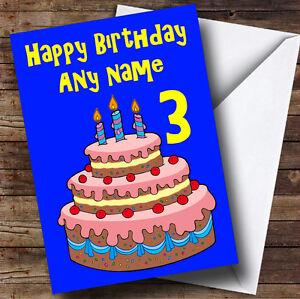 Fantastic Blue Birthday Cake Personalised Birthday Greetings Card Ebay Funny Birthday Cards Online Elaedamsfinfo