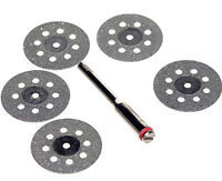 SE Diamond Cutting Disc - 5 Pc Set 1 8 Shank Tools and Accessories