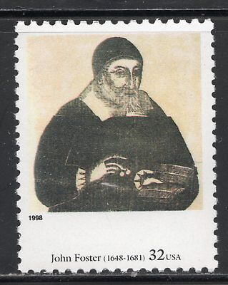 Portrait Of Richard Mather ** BY JOHN FOSTER ** US POSTAGE STAMP