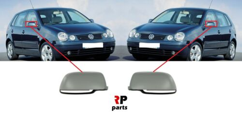 Pour VW Polo 9N droit 2001-2005 nouvelle Aile Coque Rétroviseur Casquette amorcé Paire Set gauche