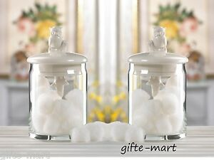 Image Is Loading 2 Porcelain OWL Storage Jar Bathroom Vanity Container