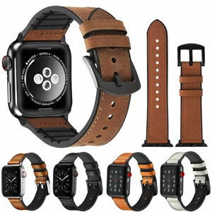 40/44/38/42mm Genuine Leather Band Strap for Apple Watch iWatch Series 5 4 3 2 1