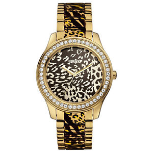 Detalles U0465l1 Título Nuevo Print De Reloj Tone Animal MujerGold Wcrystals Ver Para Original Guess 3q4AcLj5R