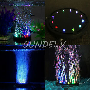 About 12 Water Submersible Colorful Aquarium Fish Details Tank Lamp Air Led Bubble Curtain Uk QerxdBWEoC