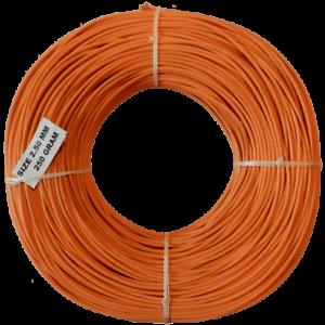Peddigrohr Korb Flechtmaterial Ø 2,5mm 250gr Orange 50€//kg Apricotorange