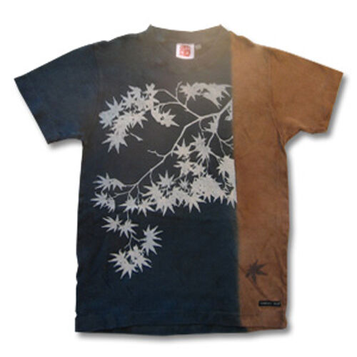 Natural and Hand dyes Mitsuru unisexed T-shirt made in Japan Japanese maple