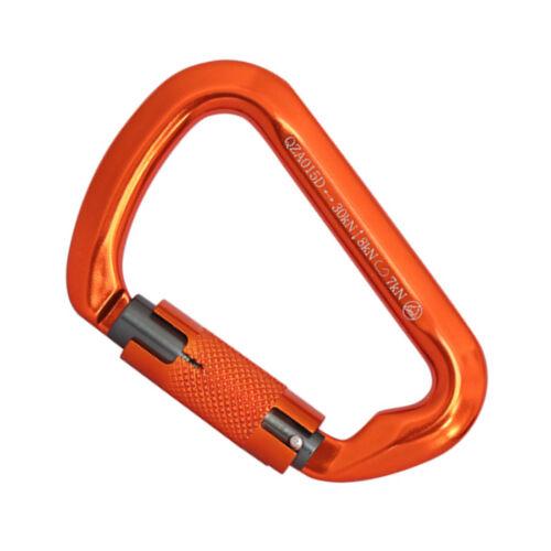 10pcs Climbing Carabiner Twist Lock 30KN D Shape Auto Self Locking Safety Gate
