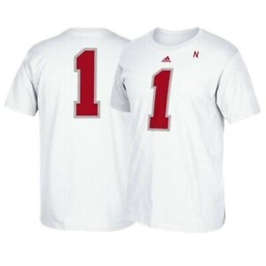 Nebraska-Cornhuskers-NCAA-Adidas-1-034-Ice-034-Football-Jersey-Men-039-s-White-T-Shirt