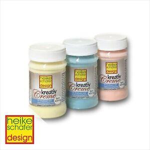 Kreativ-Creme-Set-Hellgelb-Hellorange-Helltuerkis-je-90g-Neu-Heike-Schaefer