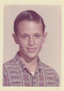 School-Boy-FOUND-PHOTOGRAPH-Color-FREE-SHIPPING-Original-Portrait-VINTAGE-811-3