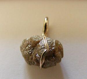 Anhänger Vornehm Rohdiamant In 925erer Silber /rohdiamant Anhänger Rough Diamond Pendant