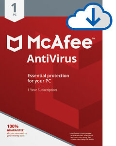 Details about Download McAfee Antivirus PLUS 2019 3 Year WINDOWS 1 PC  Security Subscription