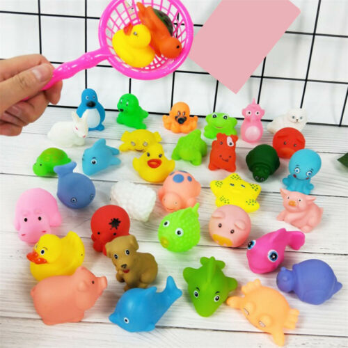 10X Animal Child Baby Kids Bath Toy Rubber Float Squeeze Sound Wash Bath Swim UK