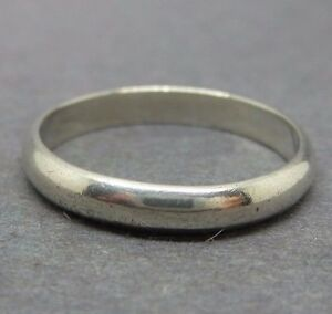 vintage sterling silver plain band wedding ring size ebay