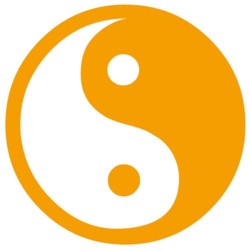 Tailles et Coloris Divers Sticker Yin Yang 5x5cm à 30x30cm LOG001