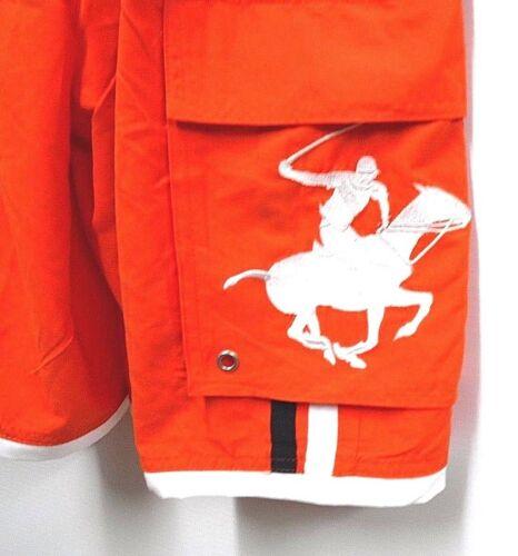 Beverly Hills Polo Club Mens Size Large Orange /& Blue Swim Trunk Shorts New