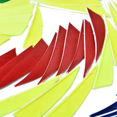 "20pcs//lot 3/"" shield cut fletching arrow feathers turkey feather arrow fletchTFSU"