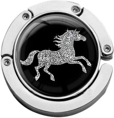 """Metalum Tasche Laccio In Forma Circolare """"cavallo In Argento""""-er In Runder Form """"pferd In Silber"""" It-it Mostra Il Titolo Originale"""