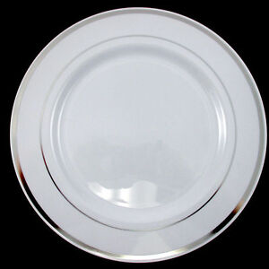 Image Is Loading Wedding Party Disposable Plastic Dinnerware Plates Round