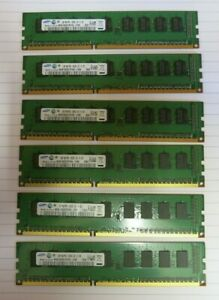 Samsung-M393B2873FH0-CH9-6GB-6x1GB-1Rx8-PC3-10600-DDR3-ECC-240P-CL9-Memory