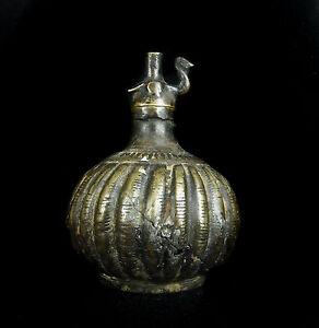 Item Digging Antique Lamp Oil Bronze Middle Orient Arab Oil Lamp