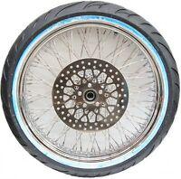 Dna Chrome 80 Spoke 21 Wheel & Tire Package For Harley Softail Models on sale