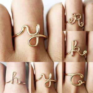 Hot-Charm-Gold-Letter-Alphabet-Women-Finger-Wedding-Rings-Jewelry-Gift-Fashion