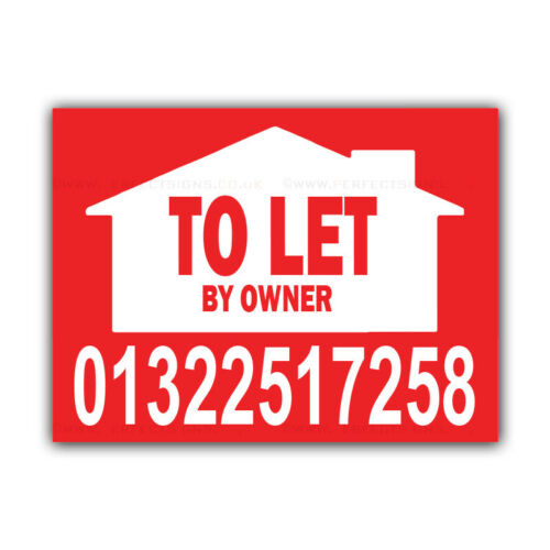 CORCP00005 TO LET By Owner Correx Sign Boards Custom Estate Agent Signs X 2