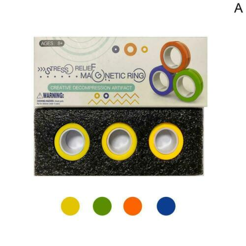 3*Finger Magnetic Rings Anti-stress Magical Rings J2T4