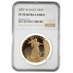 2007-W-1-oz-50-Proof-Gold-American-Eagle-NGC-PF-70-UCAM