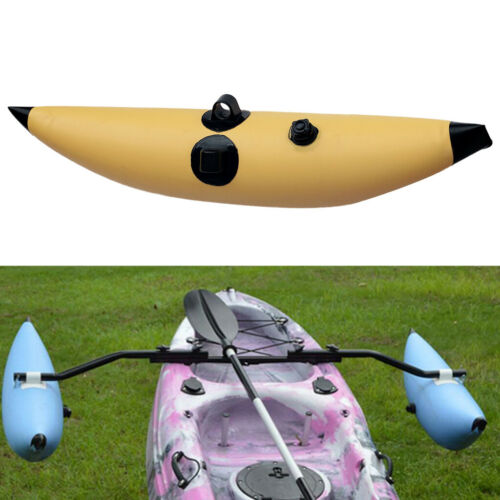 2pcs Kayak Canoe aufblasbarer Stabilisator Bootsausleger SUP Standing Yellow