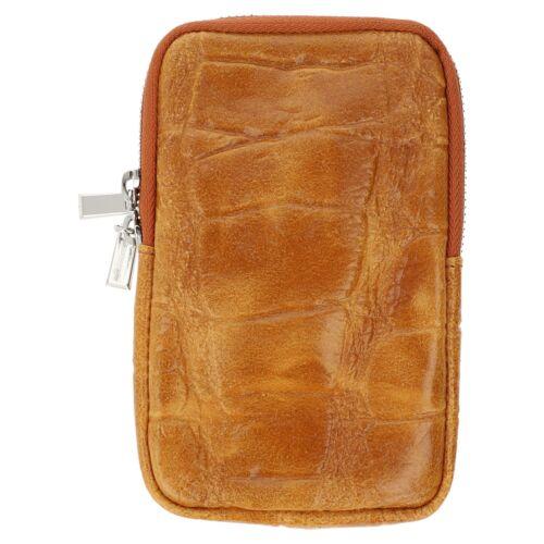 Crossbody Bag Umhänge Handy Crossover Tasche Kroko Reptil Look Leder Vintage NEU