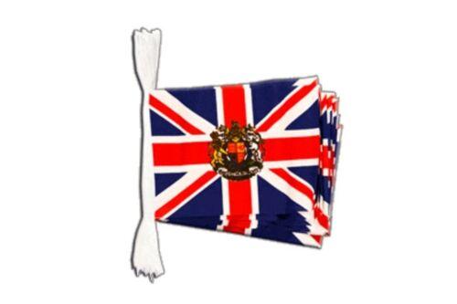 Fahnenkette Flaggenkette Girlande Großbritannien mit Wappen Fahnen Flaggen 15x22