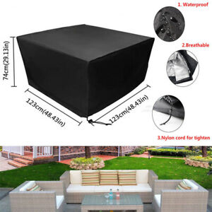 Waterproof Garden Furniture Square Cube Cover Patio Table Chair Set Protection