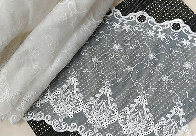 1y Vintage Embroidered lace Window Valance curtain yh1194 (90x31cm) laceking2013