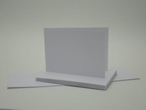 Kuverts 50 Blankokarten Klappkarten Faltkarten Set DIN A 6 Querformat 160 g